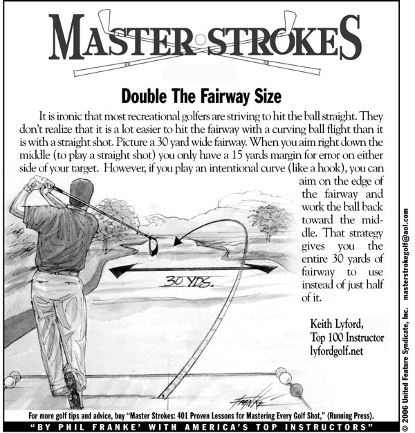 Double the Fairway Size